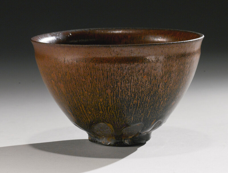 A fine and large 'Jian' 'hare's-fur' teabowl, Song dynasty (960-1279)