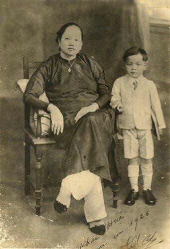 Madame Bên et mon père, Mr Truong Khac Huê à 6 ans