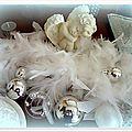 Idée fêtes: sapin en chocolat blanc, poudre irisée et scintillante......et pailletée