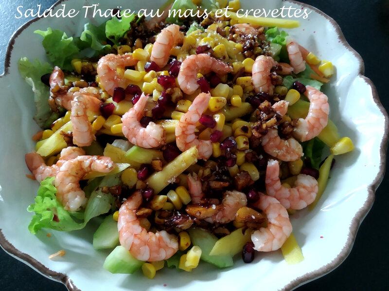 salade Thaie au mais et crevettes