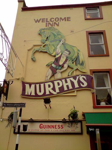Murphy's semble être la bière populaire de Cork, on en voyait des pubs partout !