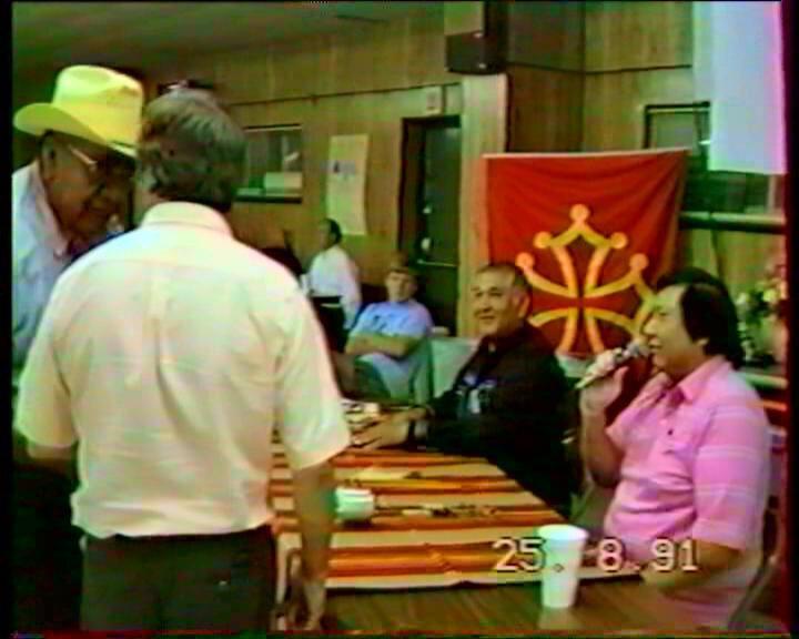 le premier drapeau occitan chez les Osages en 1991