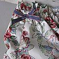 Culottes en coton écru imprimé fleurs anciennes - taille S (2)