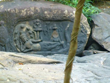 kbal spean_sculpture de vishnu_02