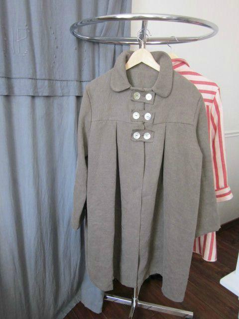 manteau d'été en lin brun (2)