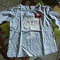 T-shirt m.longues fille 2 ans gris chat 2€