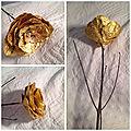 Mini blog. la rose en papier doré