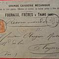 Enveloppe Fournial Frères 1888