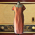 Robe rebecca coton vichy orange et blanc