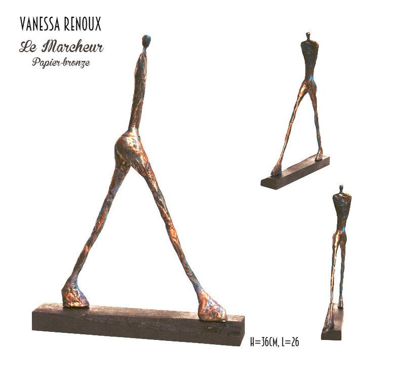 homme-marcheur-montage-papier-bronze-vanessaRenoux
