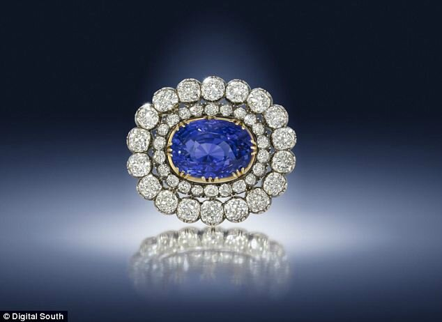 A 19th century sapphire and diamond brooch