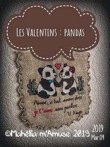 les valentins pandas