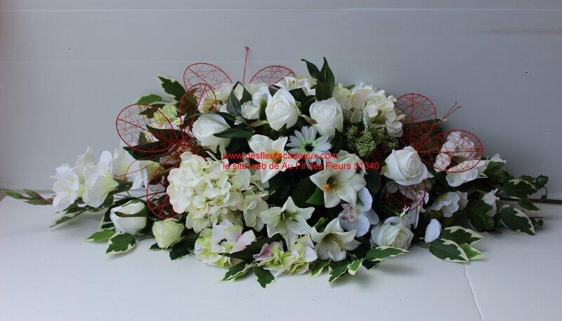 fleurir un cimetière avec des fleurs blanches (5)