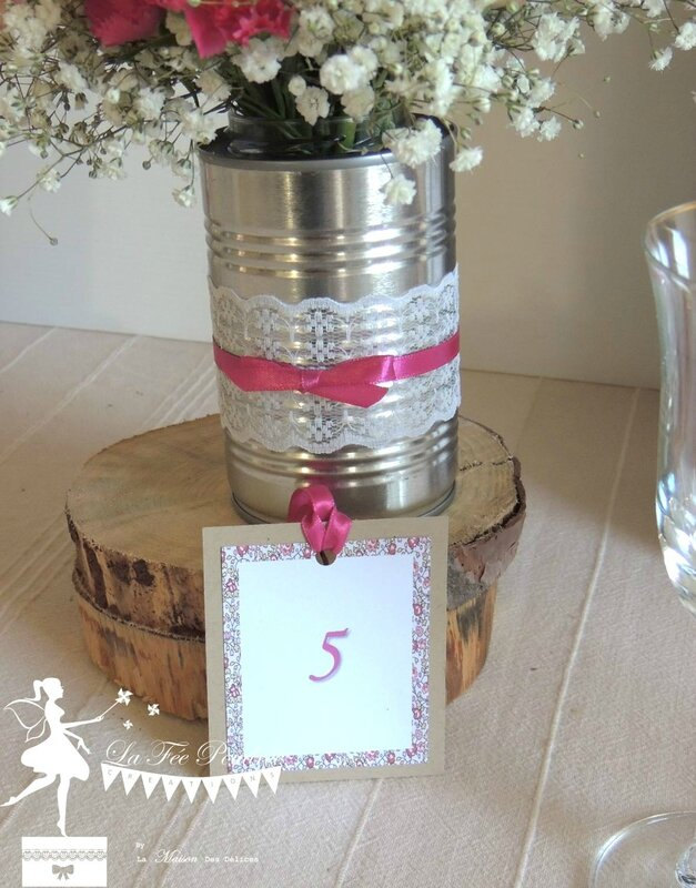 carte table mariage bapteme thme shabby chic rose libert dentelle kraft