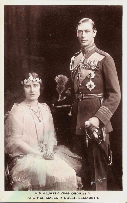 Le roi George VI et la reine Elizabeth
