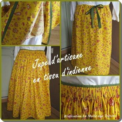 jupe d'artisane en tissu d'indienne