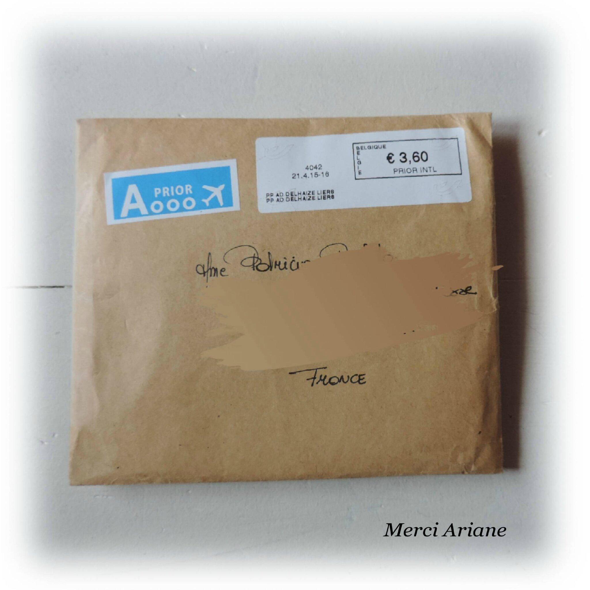 Reçu d'Ariane, format spécial de l'enveloppe, d'où une Grande Frayeur !!!