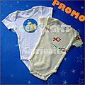 Body bébé Sous-Marin Jaune+Poisson-cadeau de naissance original garçon-Manches courtes