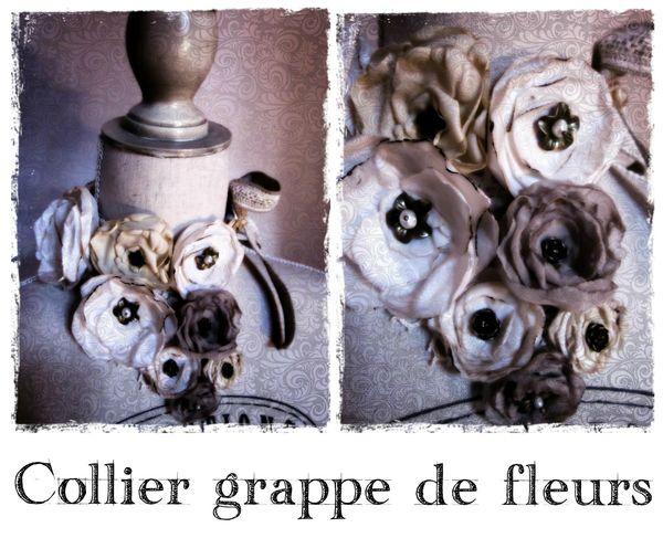 collier grappe de fleurs