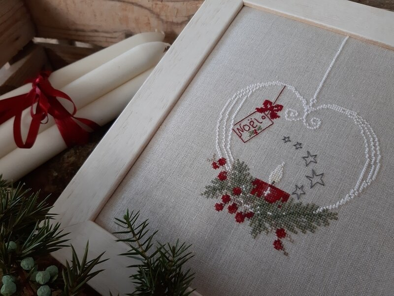 Bougie coeur Noël proche