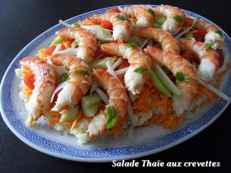 salade Thaïe aux crevettes1