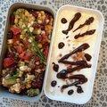 Salade complète et Yaourt pomme-muesli