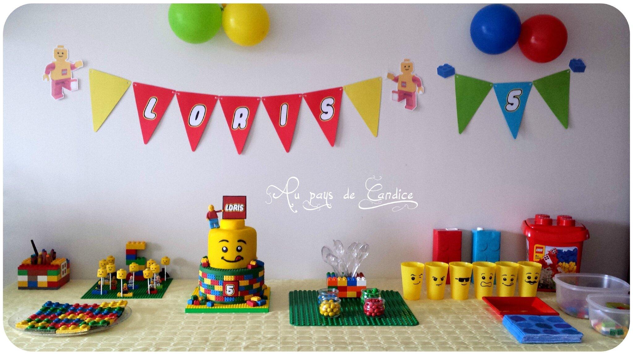 Jeux, goûter et invitation pour un anniversaire Lego - Au pays de Candice
