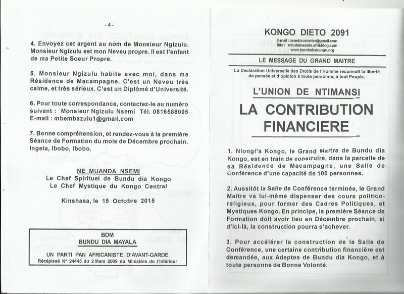 LA CONTRIBUTION FINANCIERE a