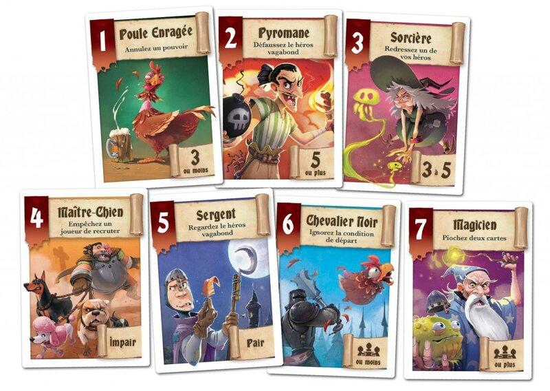 Boutique jeux de société - Pontivy - morbihan - ludis factory - Héros à louer cartes