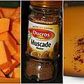 Un tour en cuisine : soupe au potiron (et à la muscade)