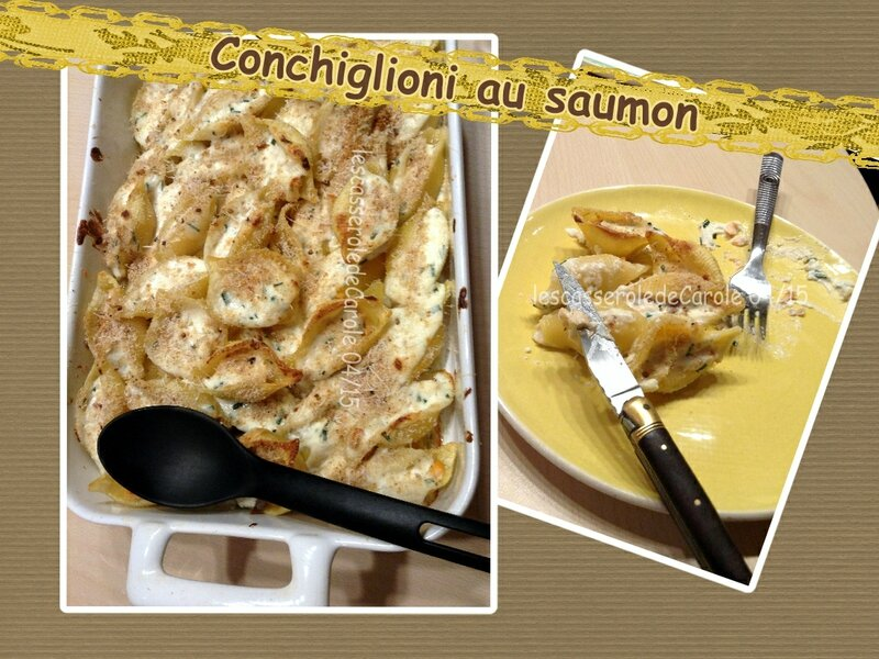 conchiglioni au saumon en gratin (SCRAP)