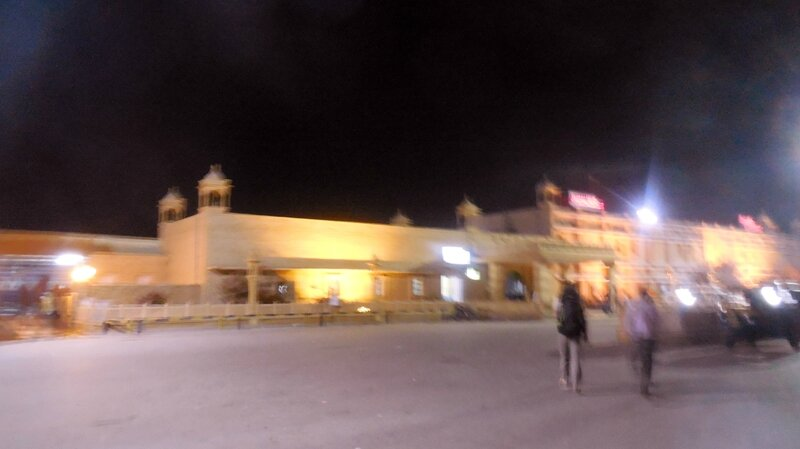 Jaisalmer la gare tôt le matin