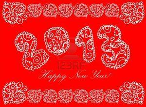 15771005-heureuse-nouvelle-annee-en-fleur-2013-sur-un-fond-blanc