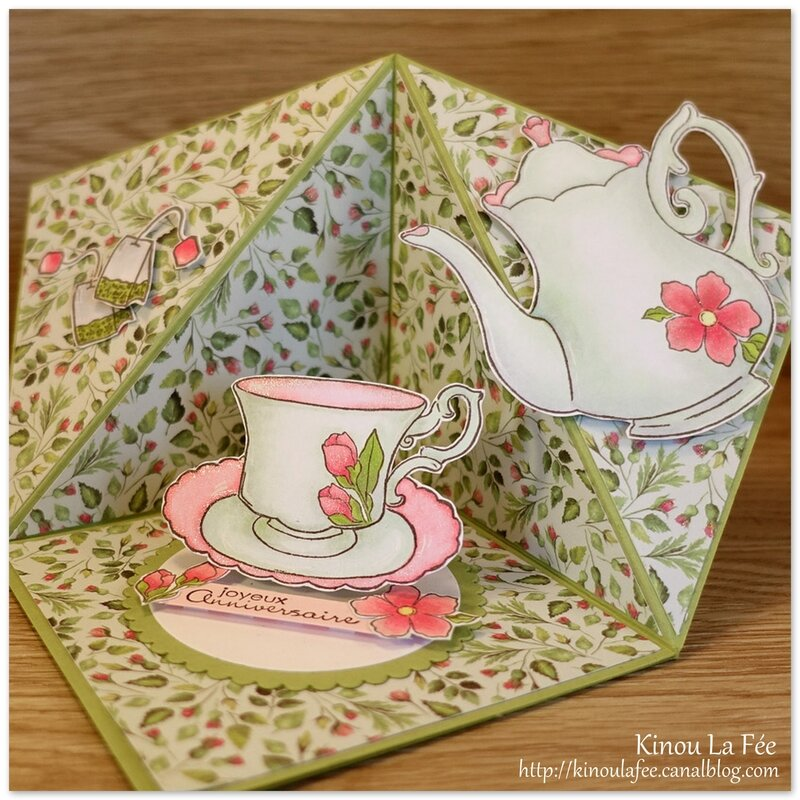 Carte Peek a Boo Tent Tea Together 8