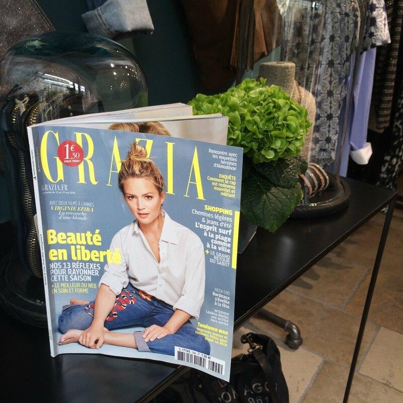 Grazia Beaux sabots mai 2016 Boutique Avant Après 29 rue Foch 34000 Montpellier