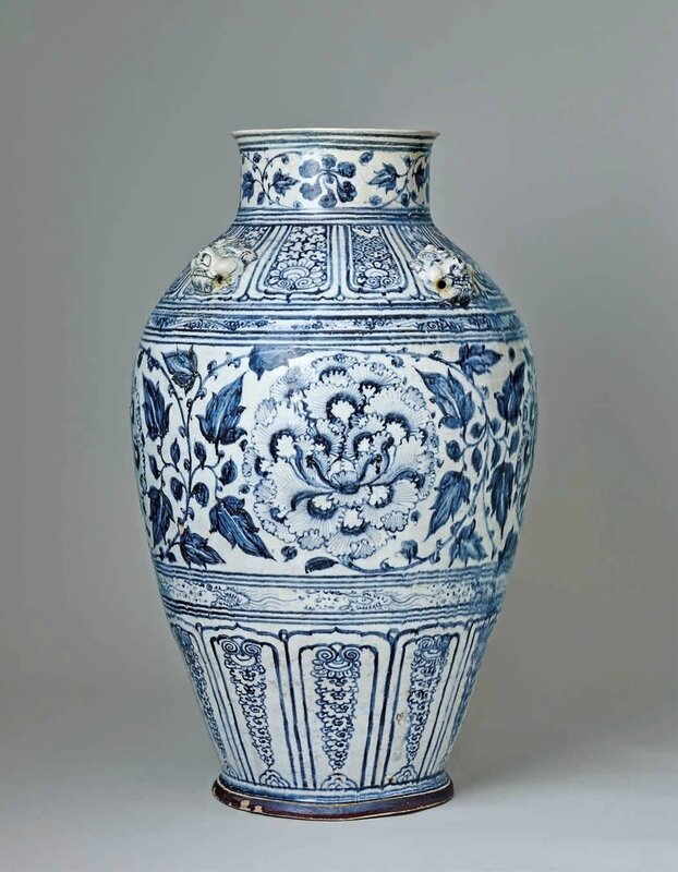 An Important and Massive Blue and White Jar, Lê Dynasty, 15th–16th c