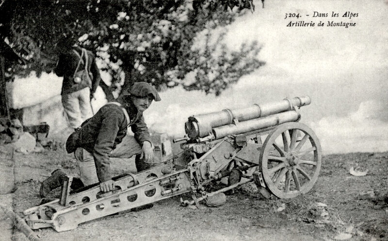 pièce d'artillerie de montagne