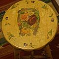Sgabello a decoupage - stool decoupage - tabouret au découpage