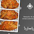 Blanquette de poulet tomates/poivrons/curry