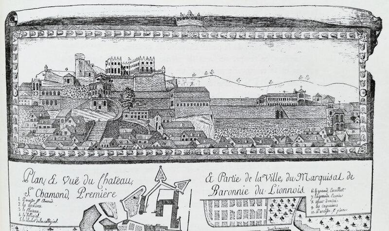vue du Château, plan 1771 (1)