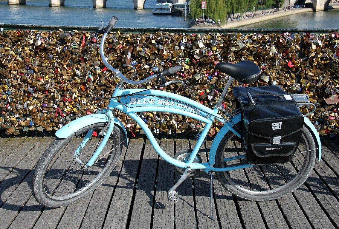 Vélo, Pont des Arts, cadenas_5621
