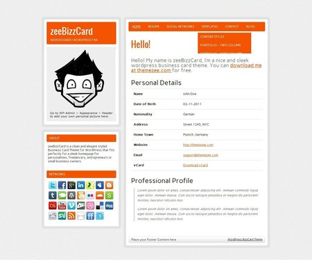 Theme-Wordpress-zeeBizzCard