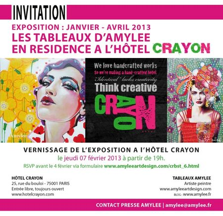 Invitation Vernissage Amylee