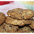 Cookies coco, chocolat , noix (thermomix )