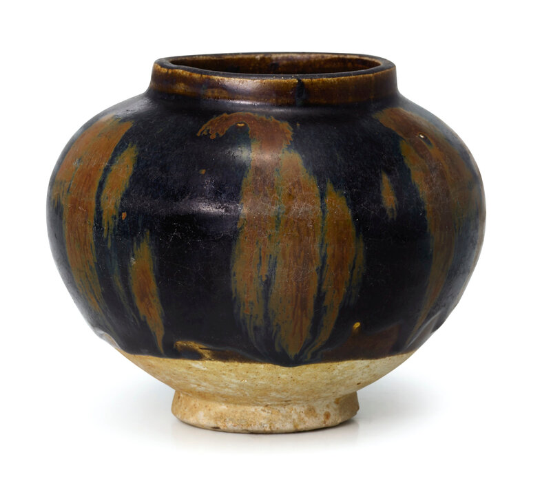 A Cizhou russet-splashed black-glazed jar, Northern Song dynasty (960-1127)