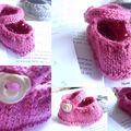 Petits souliers et tricot bébé...