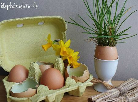 Tuto paques, diy paques, oeuf herbe