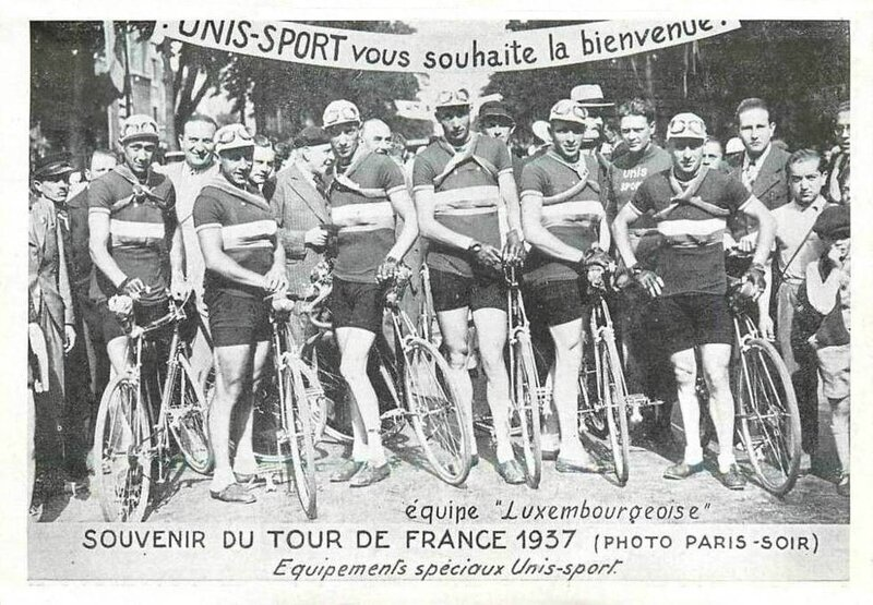 CPA Tour de France 1937 Equipe Luxembourg