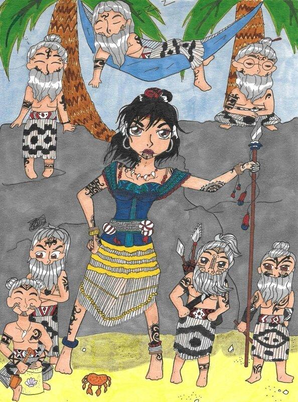_FannySéraudie concours Manga MA 13 ANS white snow maori