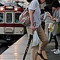 No shoe Girl @ kintetsu Tsuruhashi eki
